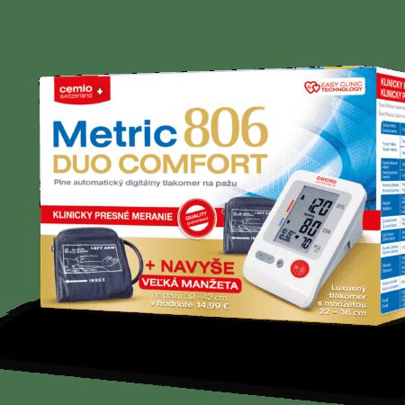Cemio Metric 806 DUO COMFORT tlakomer + zadarmo navyše: Manžeta veľkosť L (30-42 cm)