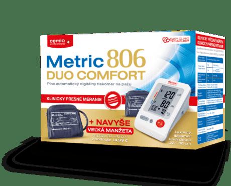 Cemio Metric 806 DUO COMFORT tlakomer + navyše: Manžeta veľkosť L (30-42 cm)