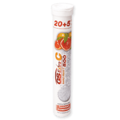 GS Extra C 500 šumivý - červený pomaranč, 20 + 5 tabliet