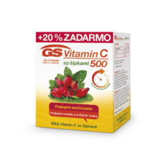GS Vitamín C 500 so šípkami, 50 + 10 tabliet