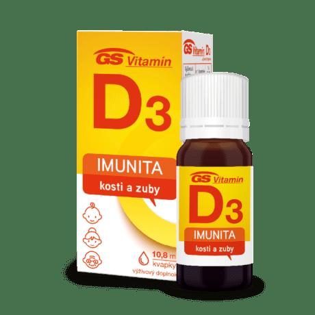 GS Vitamín D3 400 IU kvapky, 10,8 ml