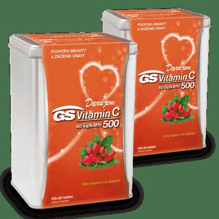 GS Vitamín C 500 so šípkami, 2 x 120 tabliet ( 240 ks ) - darček 2019