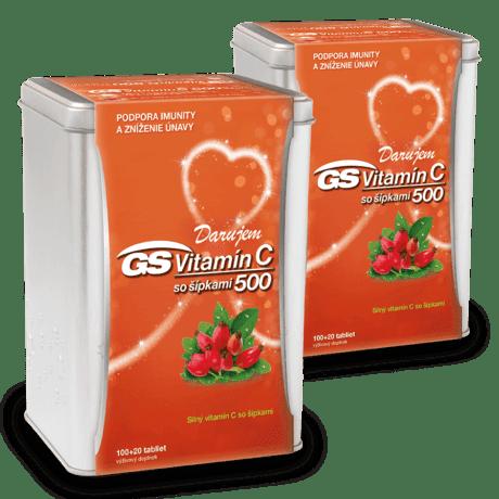 GS Vitamín C 500 so šípkami, 2 x 120 tabliet (240 ks) - darček 2019