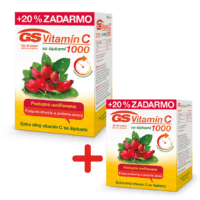 GS Vitamín C 1000 so šípkami, 120 tabliet + GS Vitamín C 1000 so šípkami, 60 tabliet