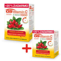 GS Vitamín C 1000 so šípkami, 120 + 60 tabliet