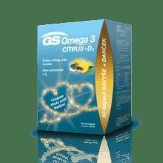 GS Omega 3 CITRUS + D3, 100 + 50 kapsúl - darček 2020