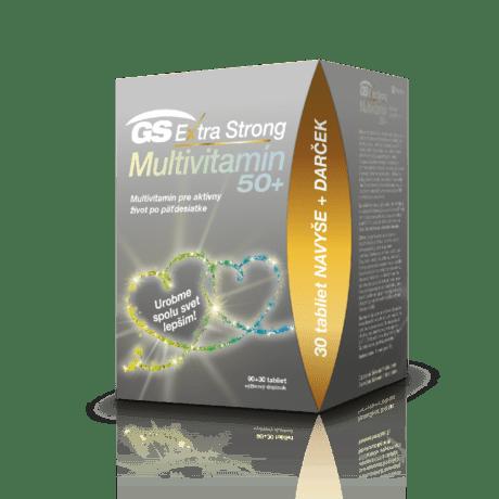 GS Extra Strong Multivitamín 50+, 90+30 tabliet - darček 2020