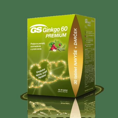 GS Ginkgo 60 PREMIUM, 60 + 30 tabliet - darček 2020