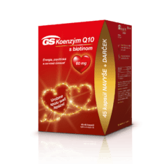 GS Koenzým Q10 60mg, 45 + 45 kapsúl - darček 2020
