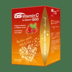 GS Vitamín C 500 so šípkami, 100 + 20 tabliet, darčekové balenie 2021