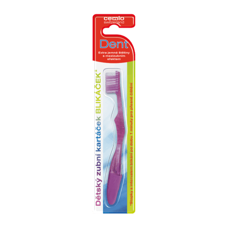 Cemio Detská svietiaca zubná kefka BLIKÁČIK