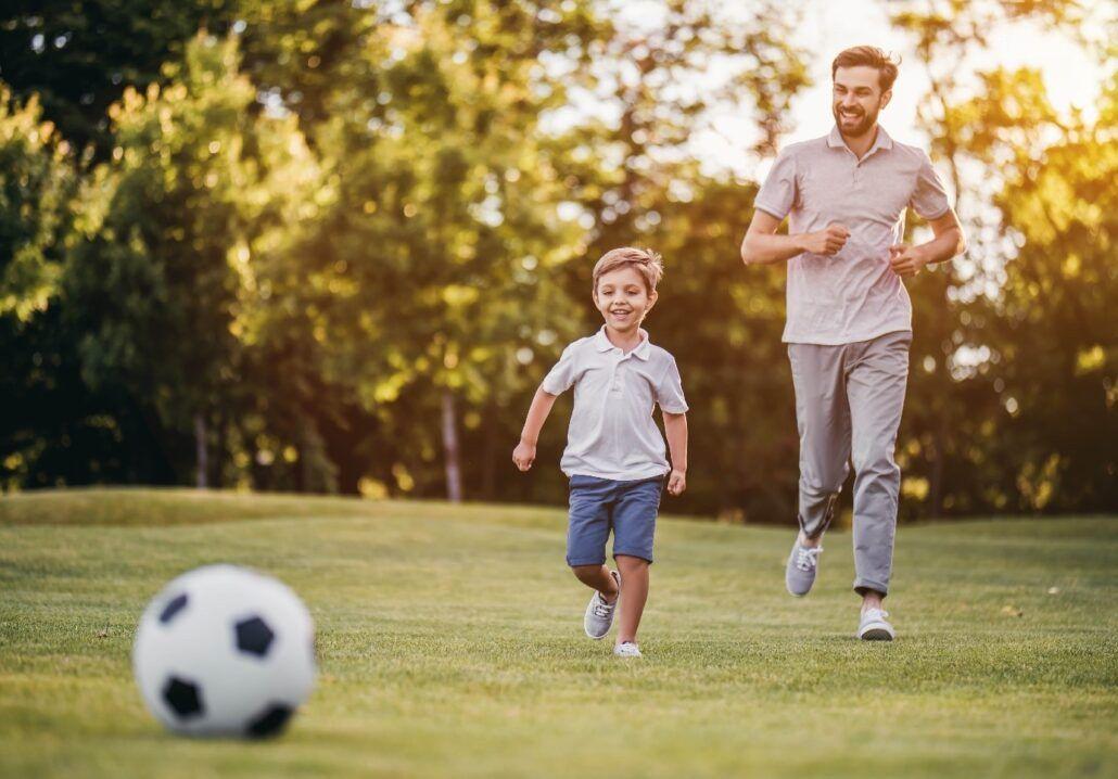 Vitamín C pre celú rodinu - otec so synom